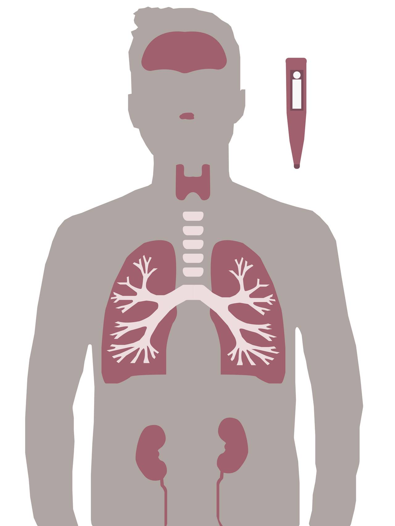 silhuett av mann med symptomer på coronavirus