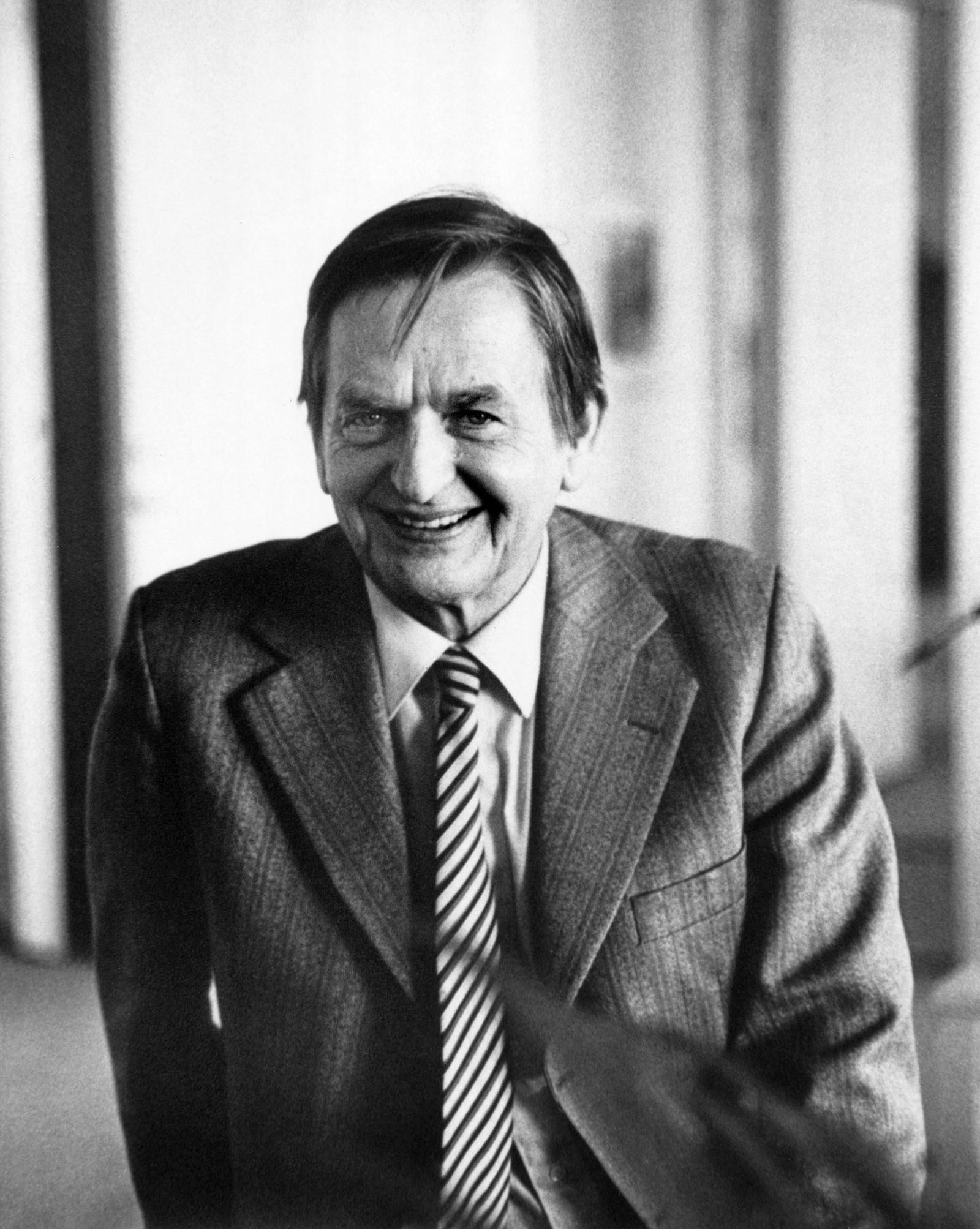 Olof Palme fotografert kort tid før han ble myrdet.
