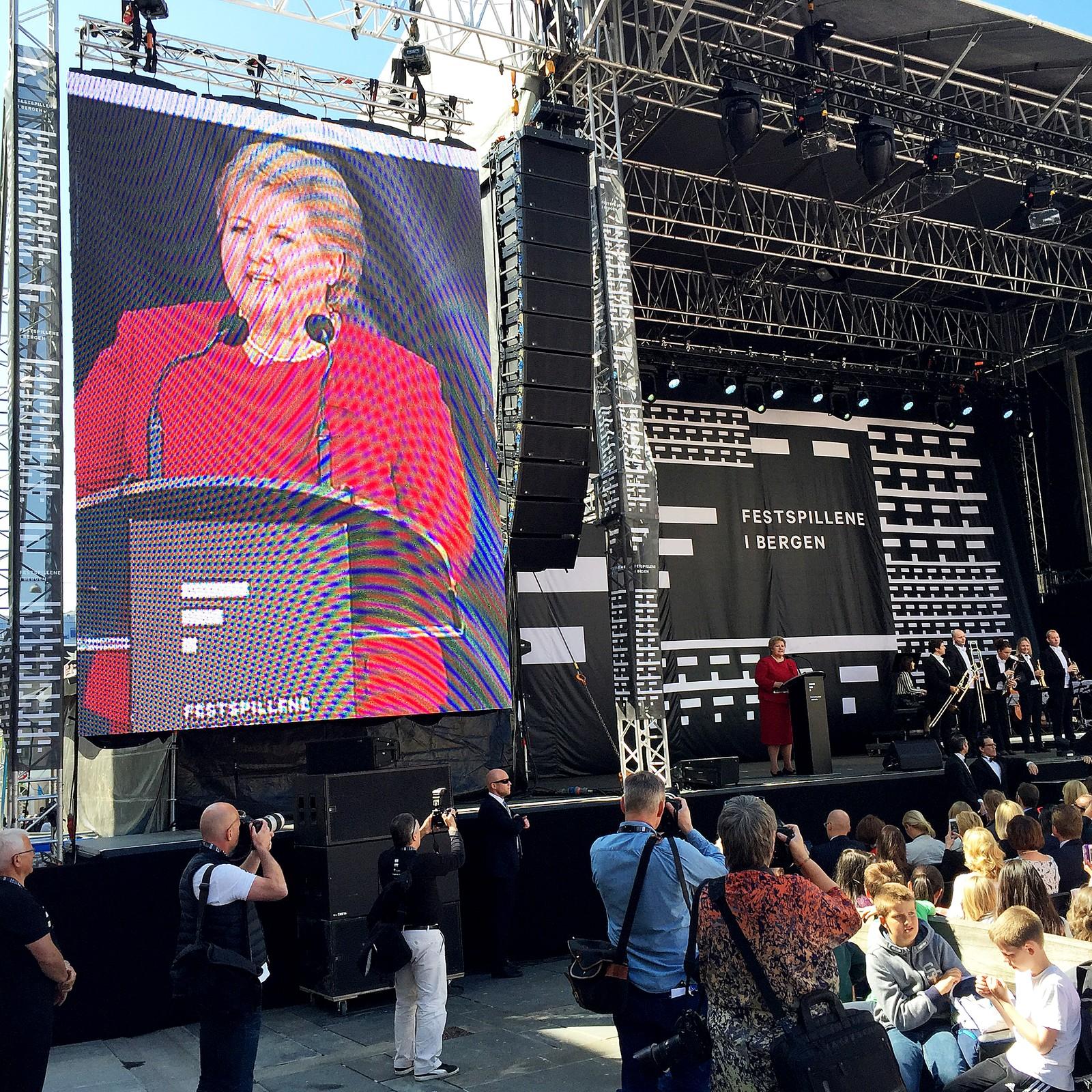 Erna Solberg holder åpningstale.