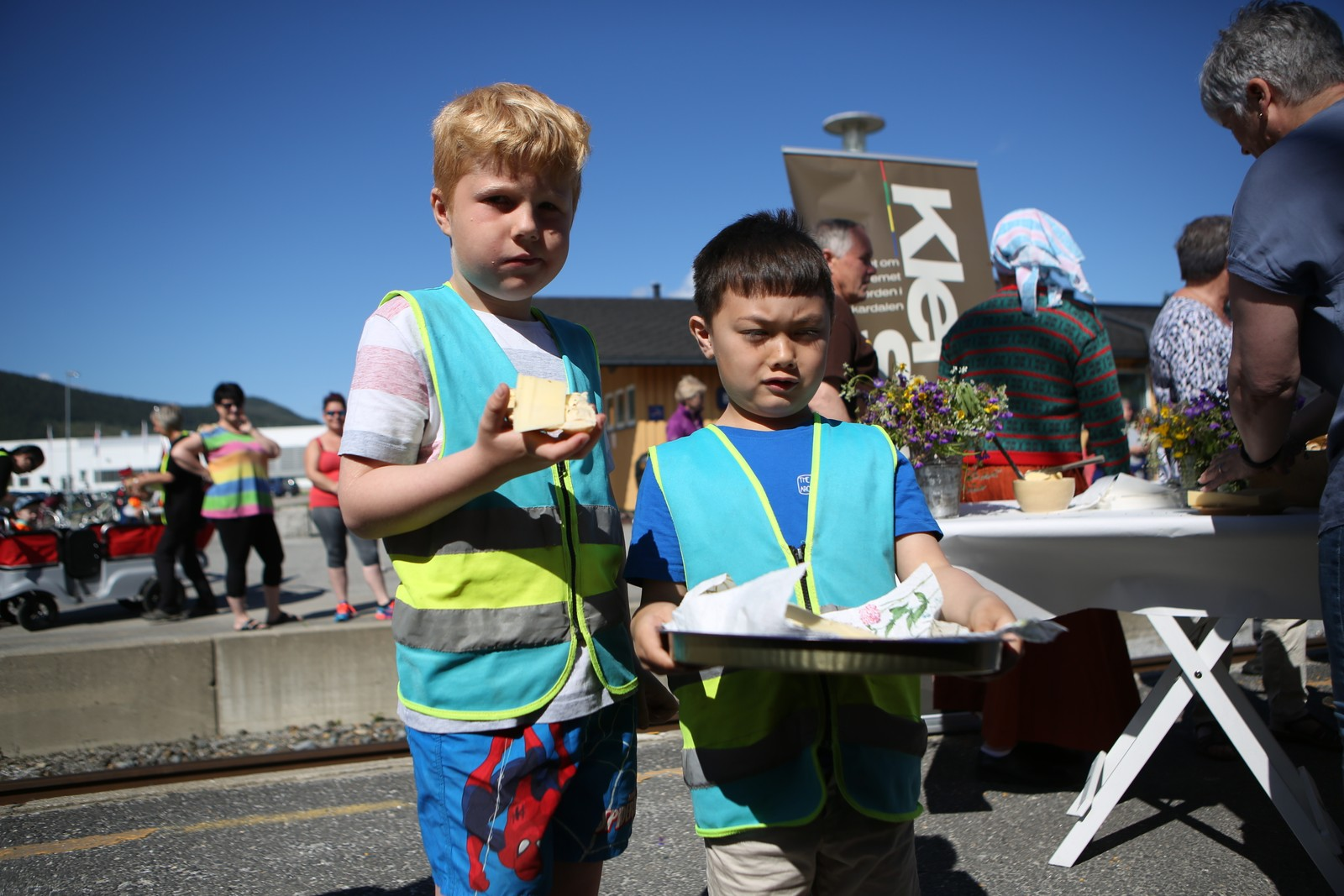 Barn fra Bjerka Barnehage.