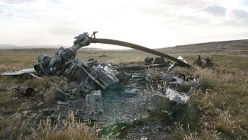 Helikoptervrak Falklandsøyene