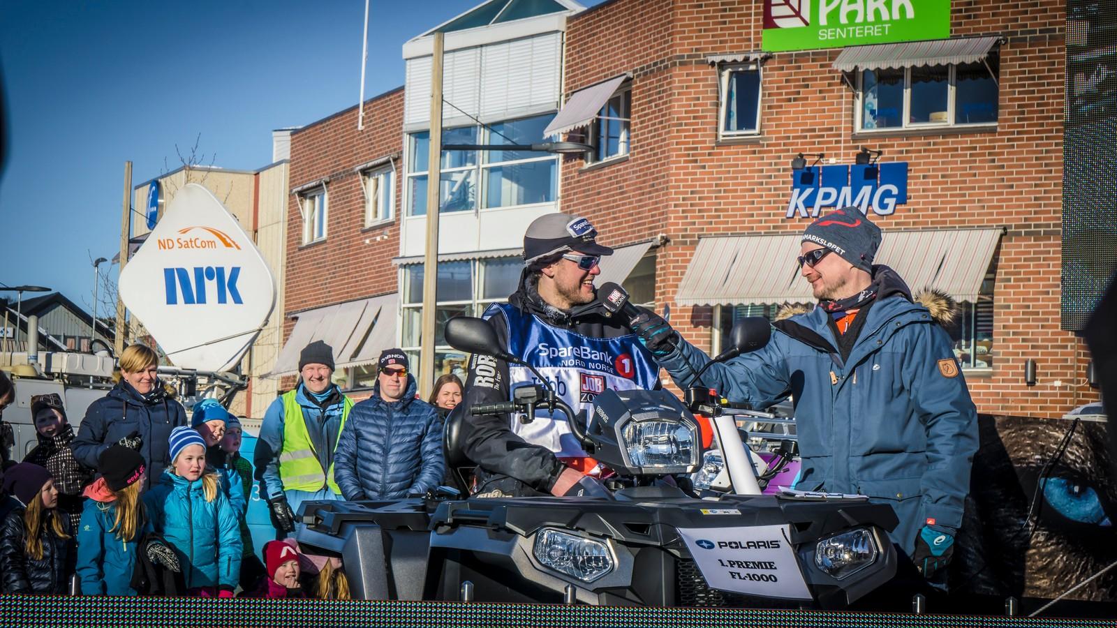 En del av premien til Karlsson var en ATV. – Jeg behøver en ny ATV, sa Karlsson om hvorfor han ville kjøre Finnmarksløpet i år.