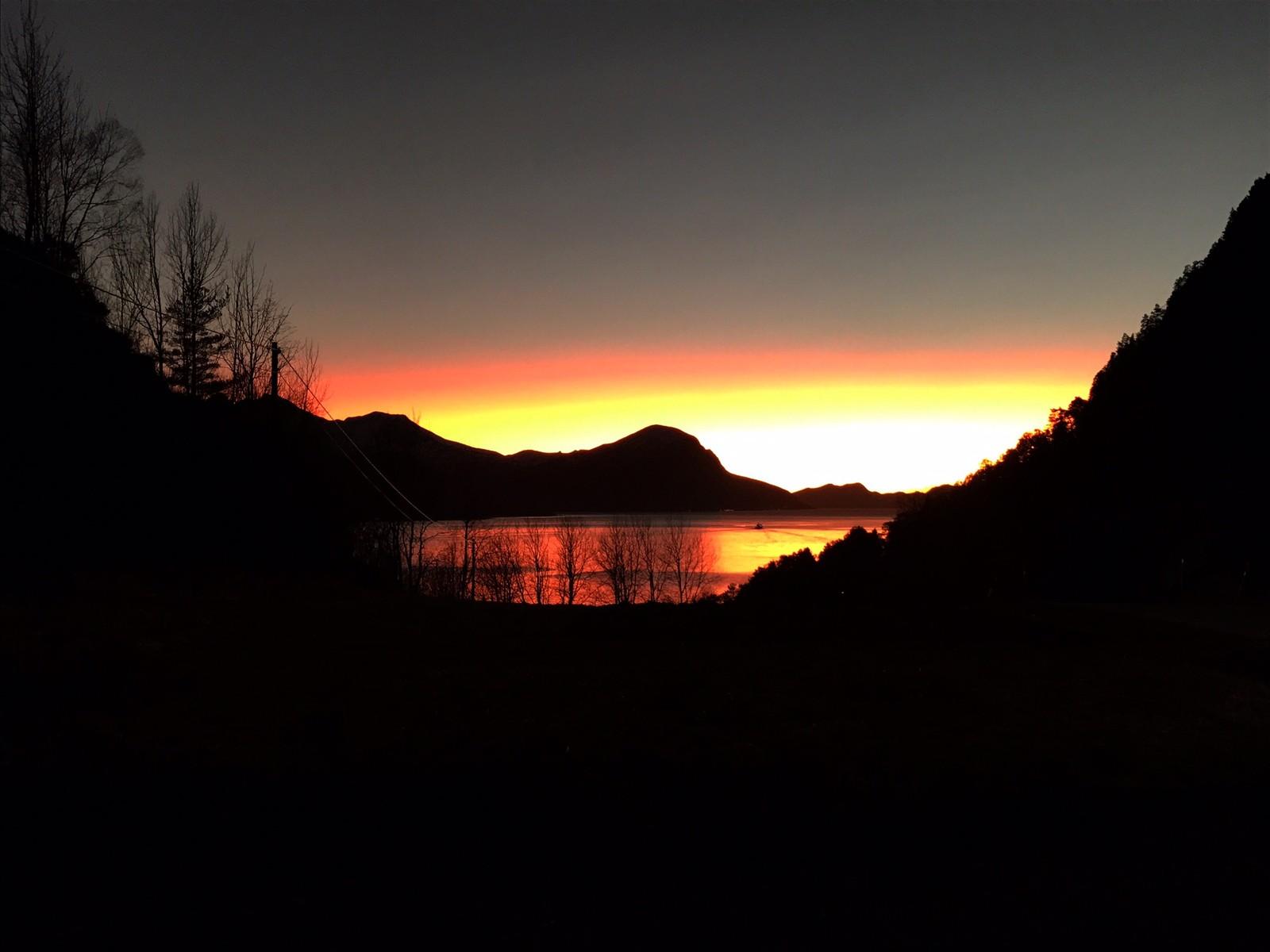 Solnedgangen på Hesseberg.