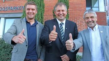 Christian Tynning Bjørnø, Terje Riis-Johansen og Sigbjørn Molvik