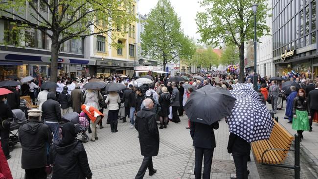 Mange folk i Nordre gate