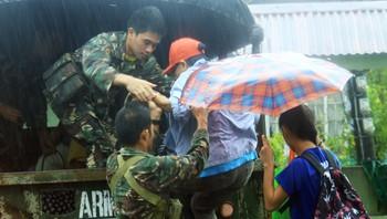 Evakuerte på Filippinene