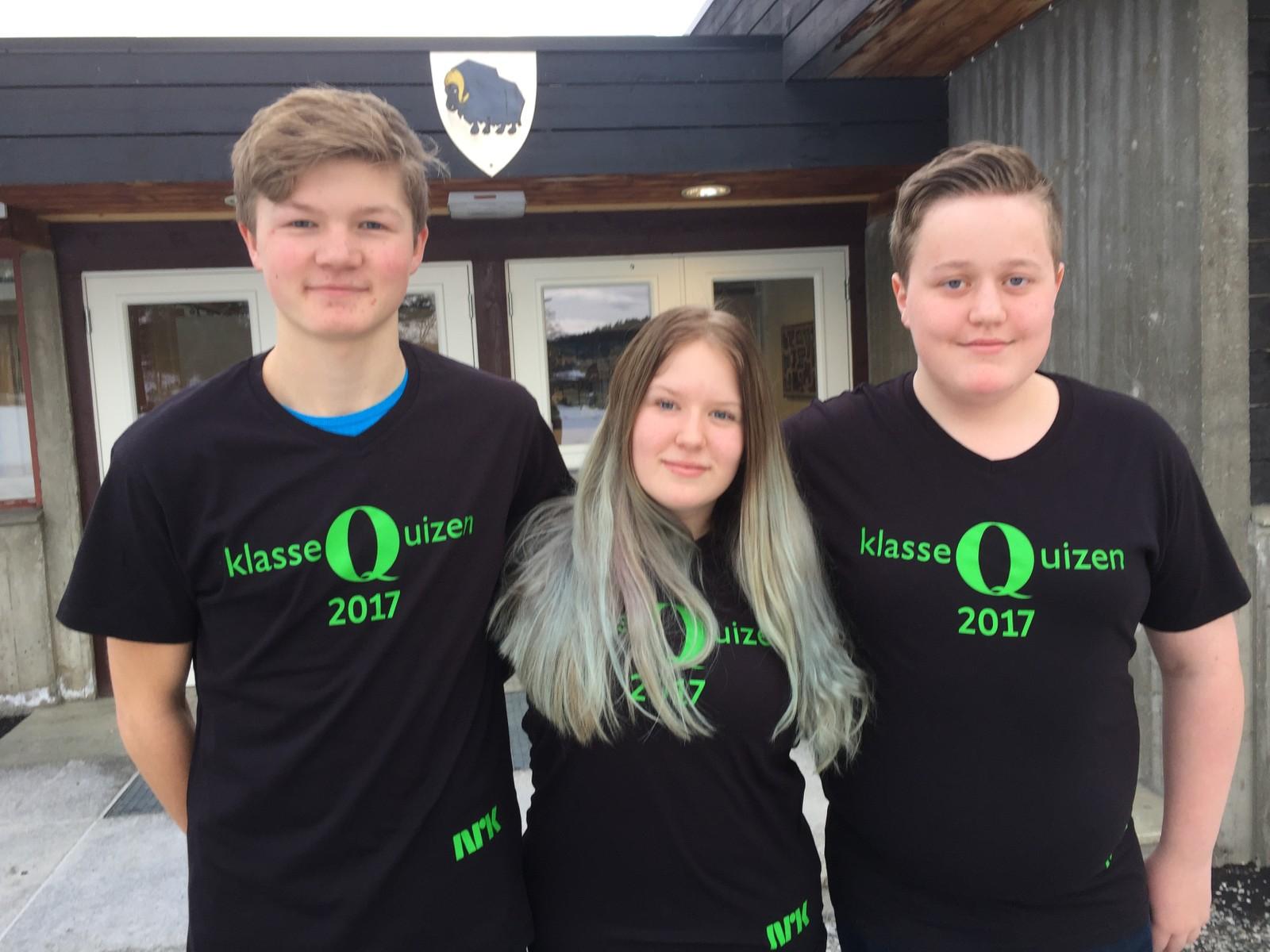 Det ble full pott og 12 poeng til Sigurd Brennhaugen, Jesper Selsjord og Madelen Olsen Brandli fra Dovre ungdomsskole.
