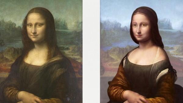 Oppdaget ansikt bak Mona Lisa