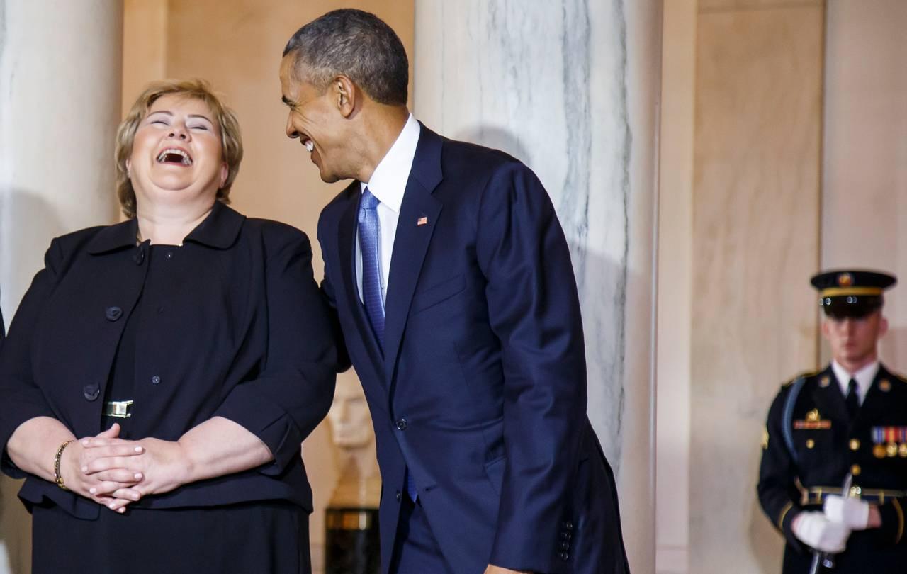 Erna Solberg og Obama