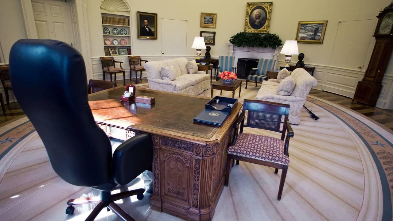 Det ovale kontor i Det hvite hus under George W. Bush. Bilde tatt 29. februar 2008.