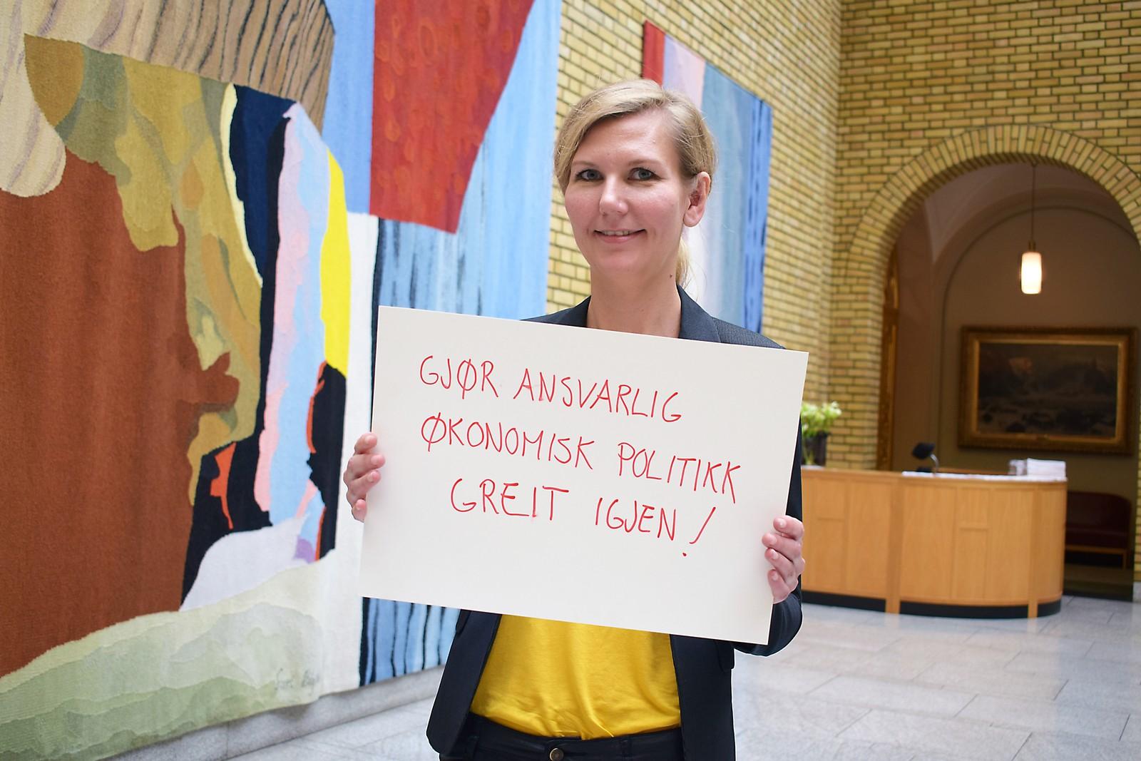 MARIANNE MARTHINSEN (Ap): «Gjør ansvarlig økonomisk politikk greit igjen».