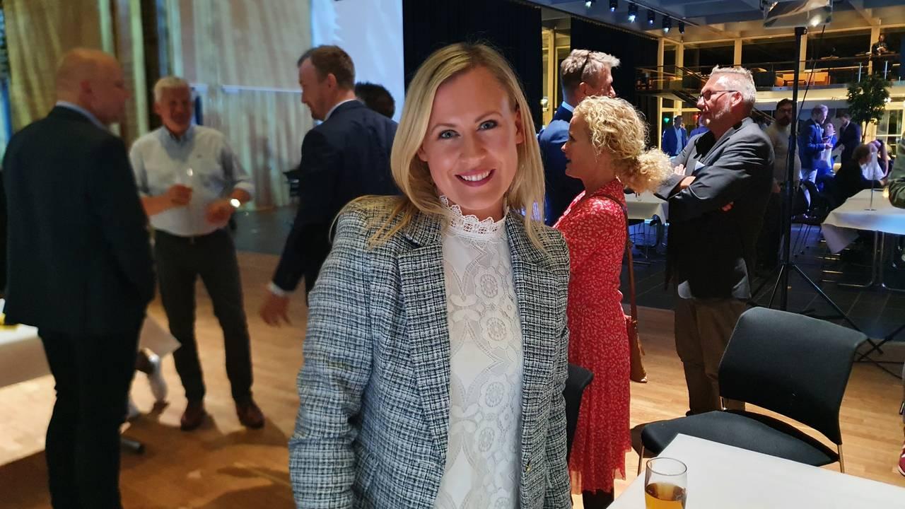 Lene Vågslid på valgvake.