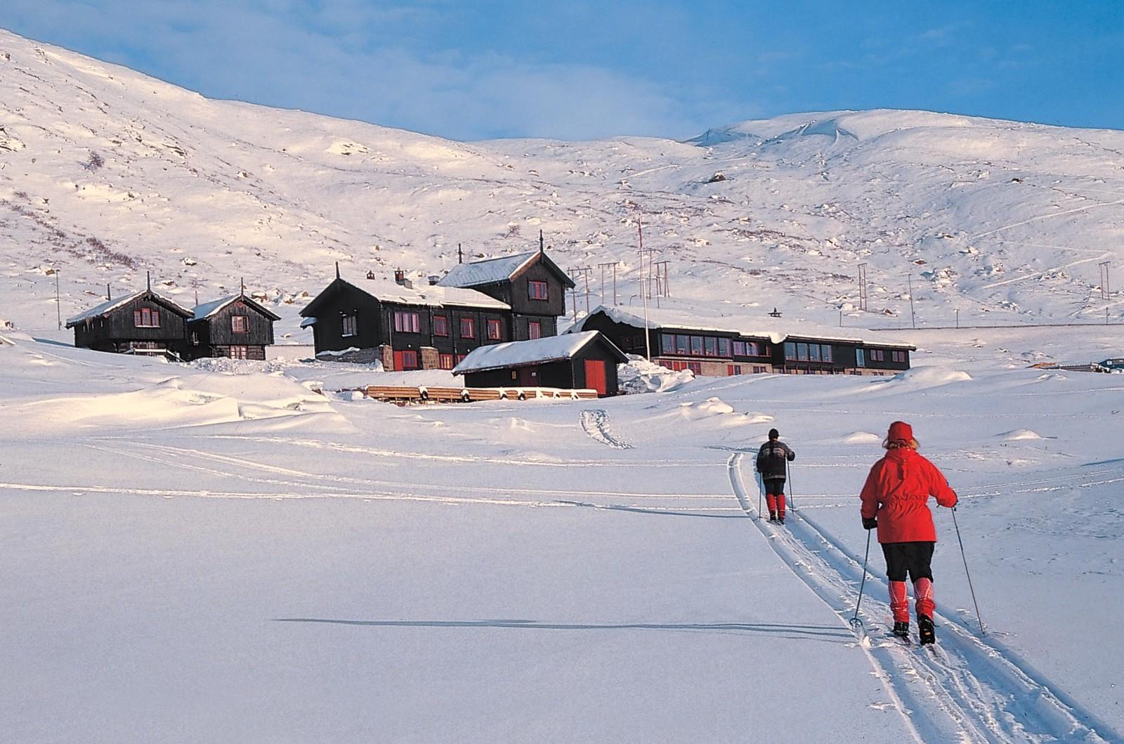 Haukeliseter fjellstue ved inngangen til Hardangervidda Nasjonalpark.