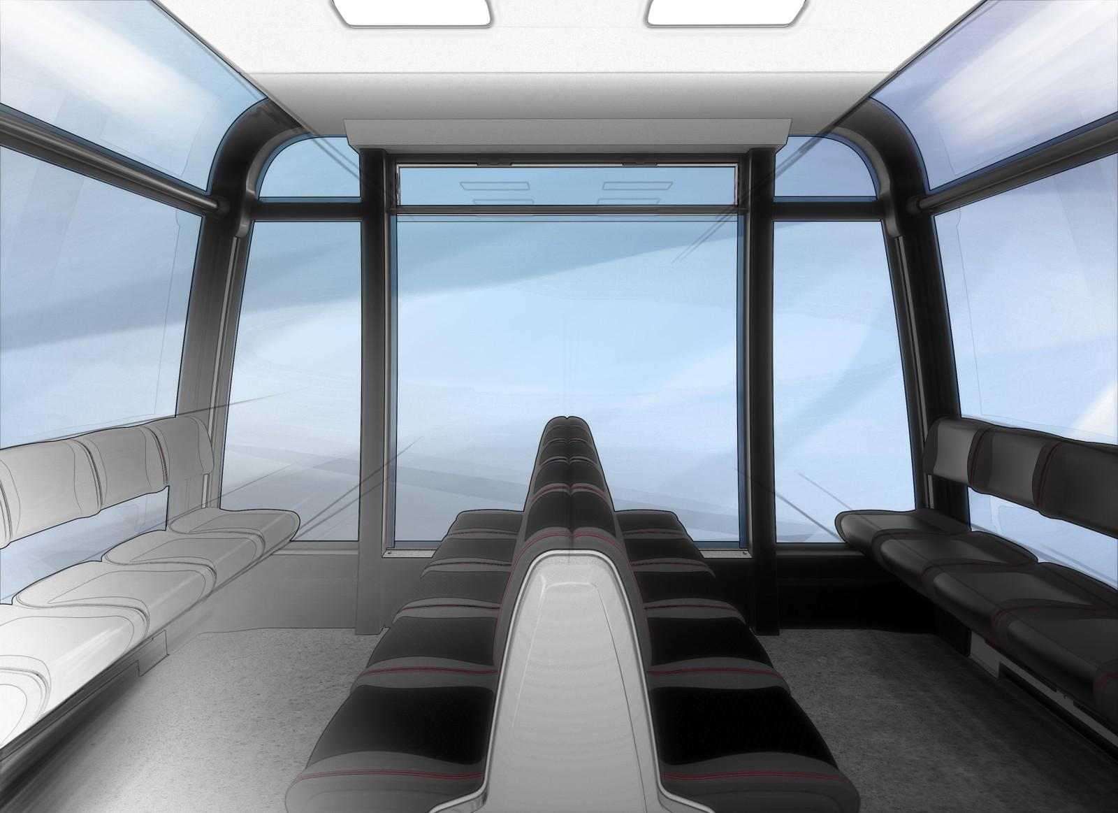 Det vil være plass til ca. 35 personer i hver kabin.