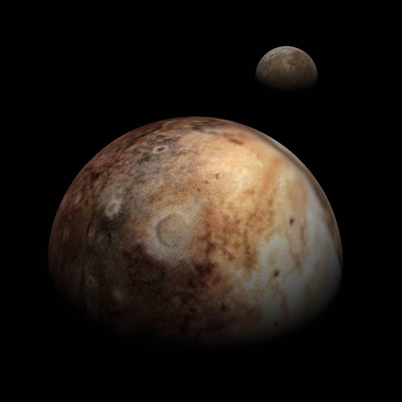 Pluto og Charon sett fra New Horizons