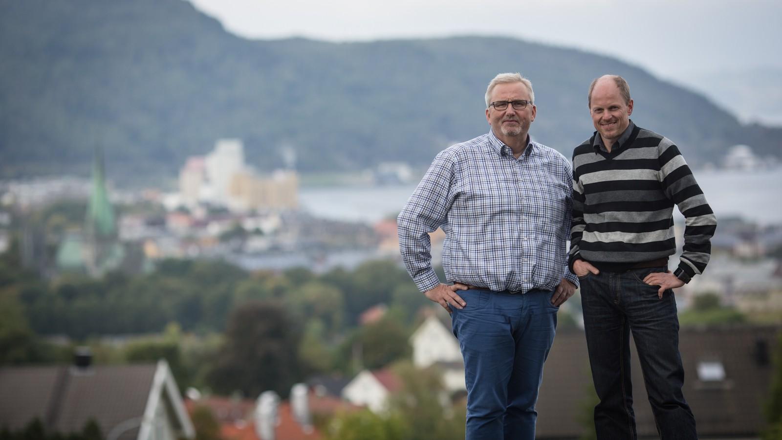 Tom Erik Sørensen og Morten Karlsen, programledere på God morgen Trøndelag.