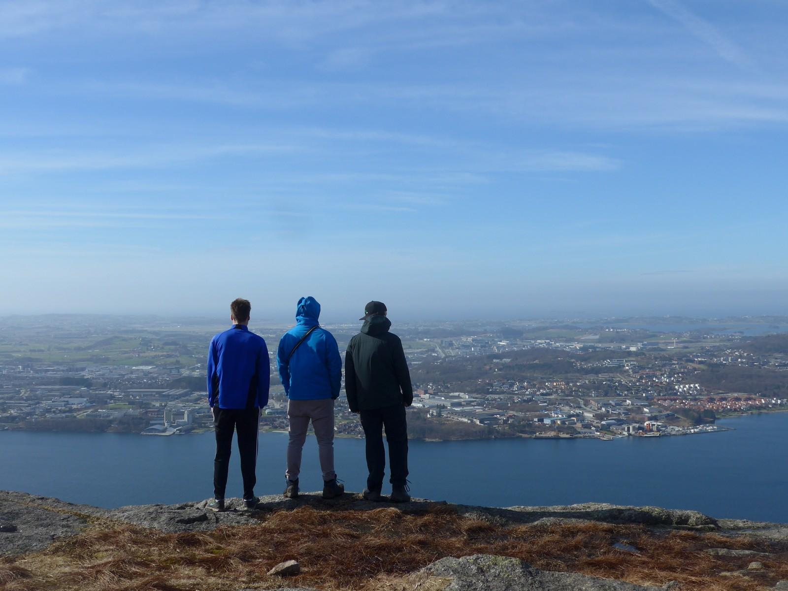 Utsikt fra Dalsnuten i Sandnes.