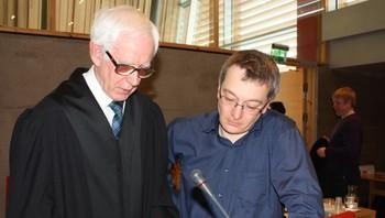 Advokat Geir Haugen og reindriftsutøver Egil Kalliainen