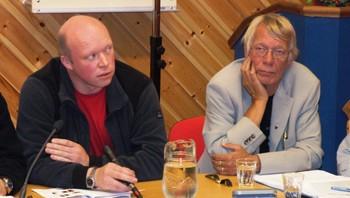 """En utslått """"gammelordfører"""" Anders Sæter sammen med valgvinneren i Tysfjord: Tor Asgeir Johansen"""