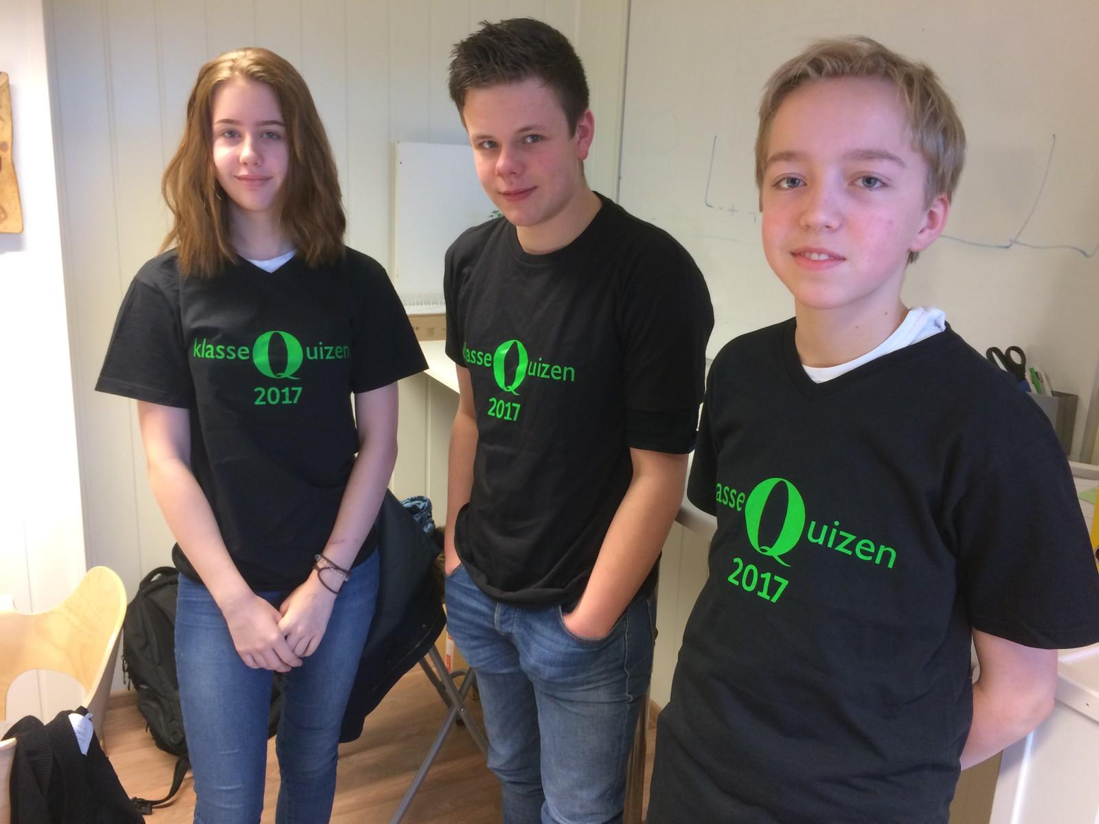 FAGERHAUG KRISTNE SKOLE: Elise Grytdal, Stig Olav Walstad og Andreas Grimstad.
