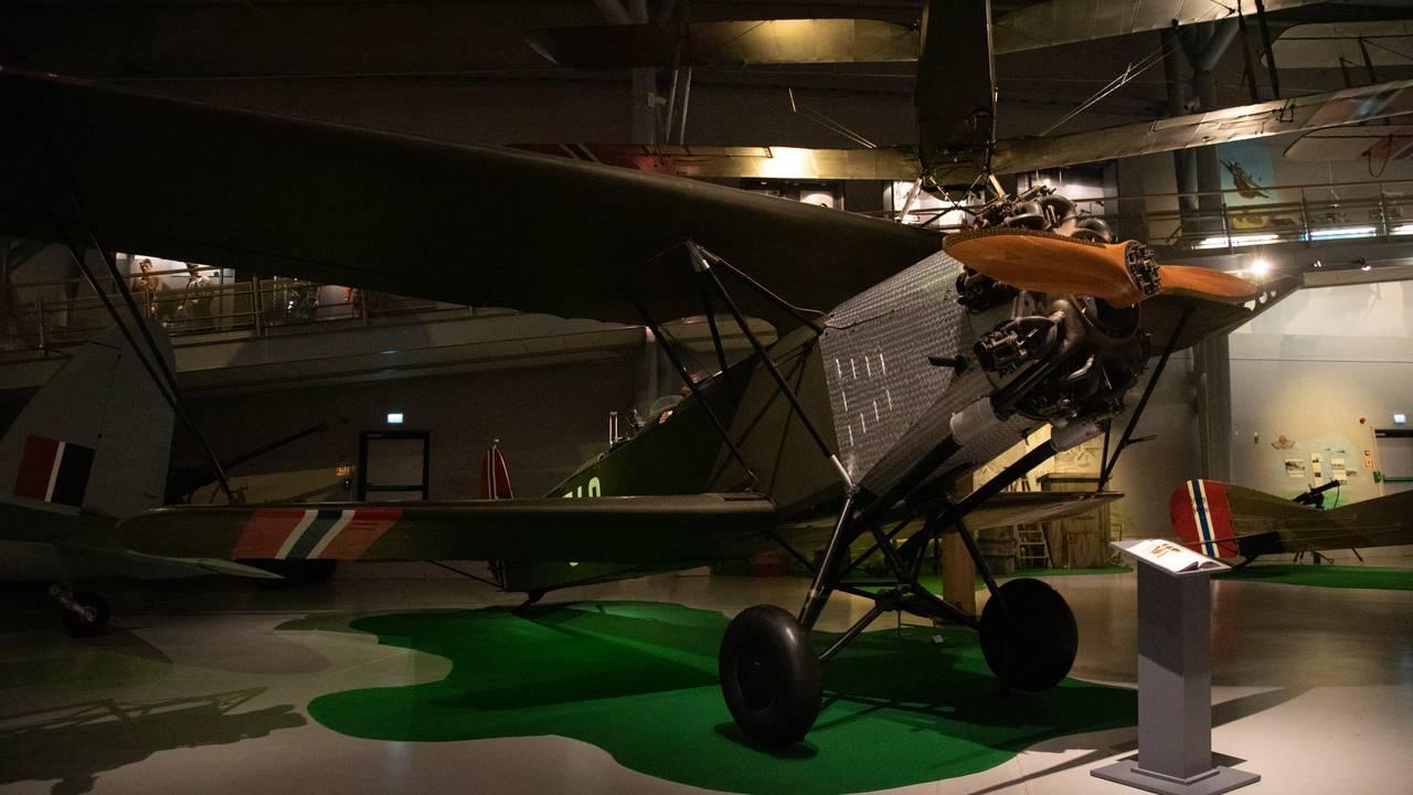 Fokker CV-D på Norsk Luftfartsmuseum i Bodø.