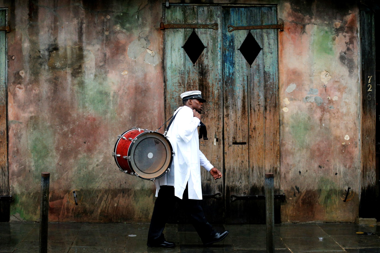 En musiker i det franske kvarteret i New Orleans.