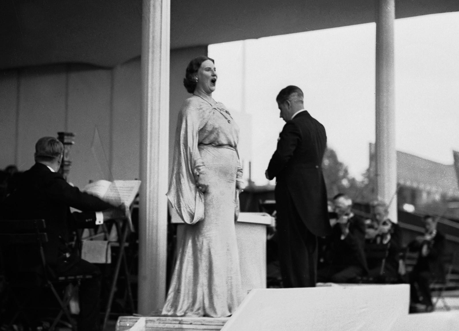 Omstridt sanger: Landets mest berømte operasanger, Kirsten Flagstad, var blant de mange som ble rammet av NRKs boikott mot kunstnere med «unasjonal holdning» etter krigen. Saken havnet i rådet.