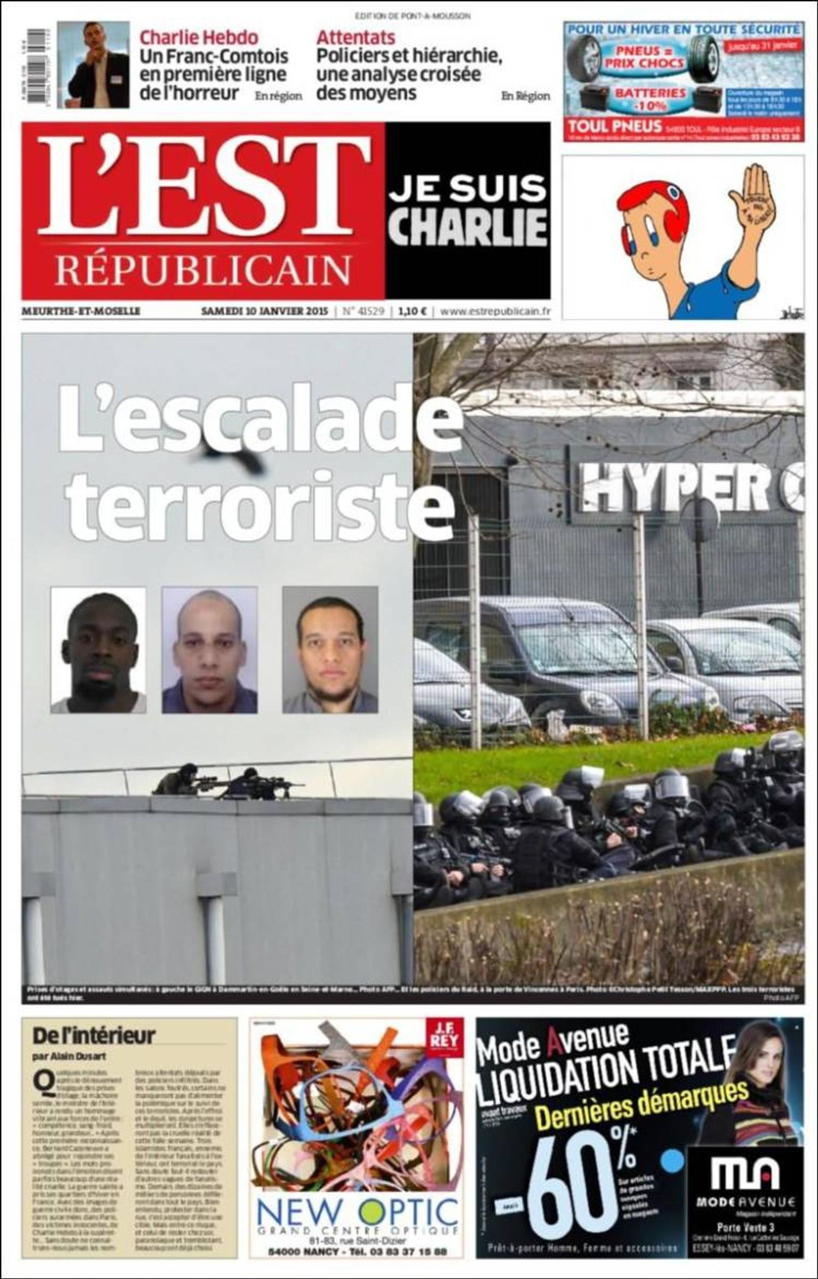 L'Est Républicain: Terrorangrepet.