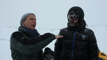 Regissør Harald Zwart på befaring i indre Troms
