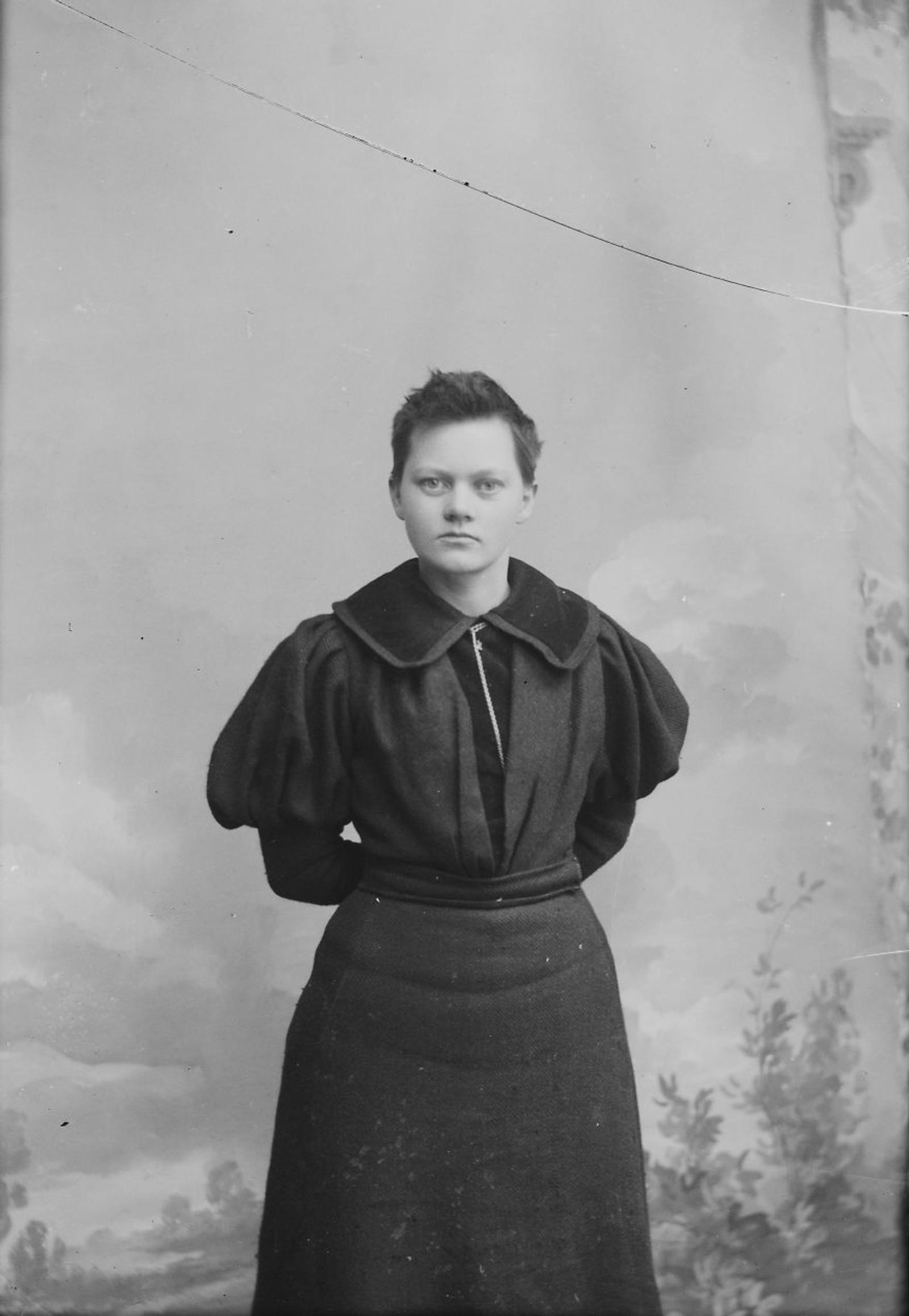 PORTRETT: Marie Høeg. Bildet er tatt mellom 1896 og 1903.
