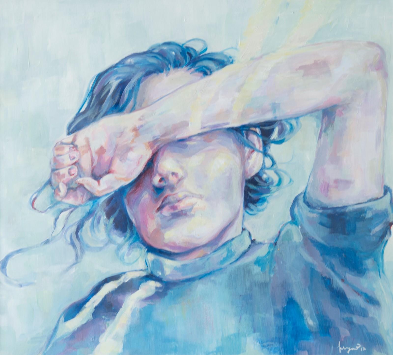 LYS: Akrylmåleriet til Ingrid Bolstad (17) frå Førde, sendte henne til landsmønstringa.
