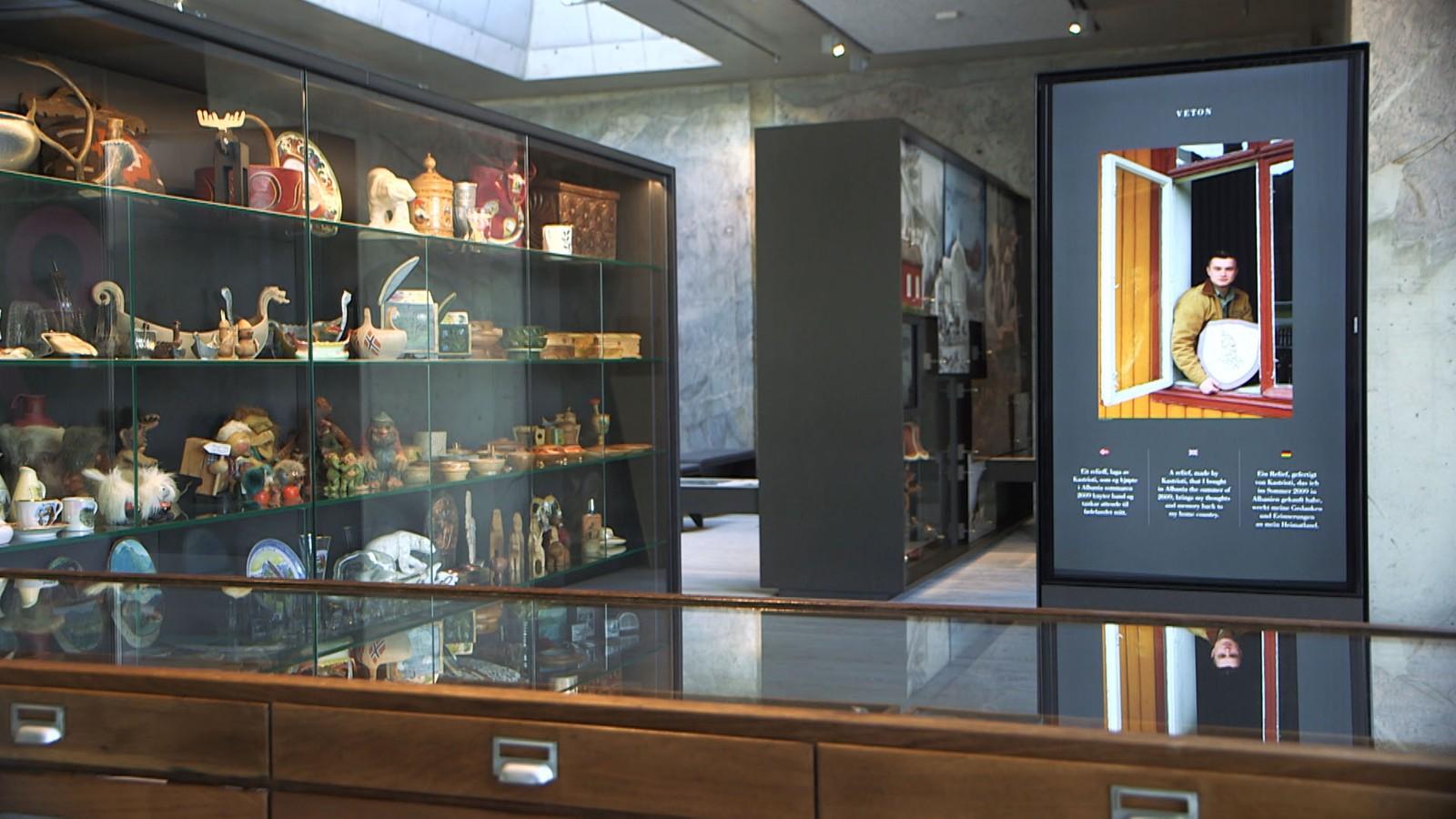 Utstilling på Norsk Reiselivsmuseum i Balestrand.