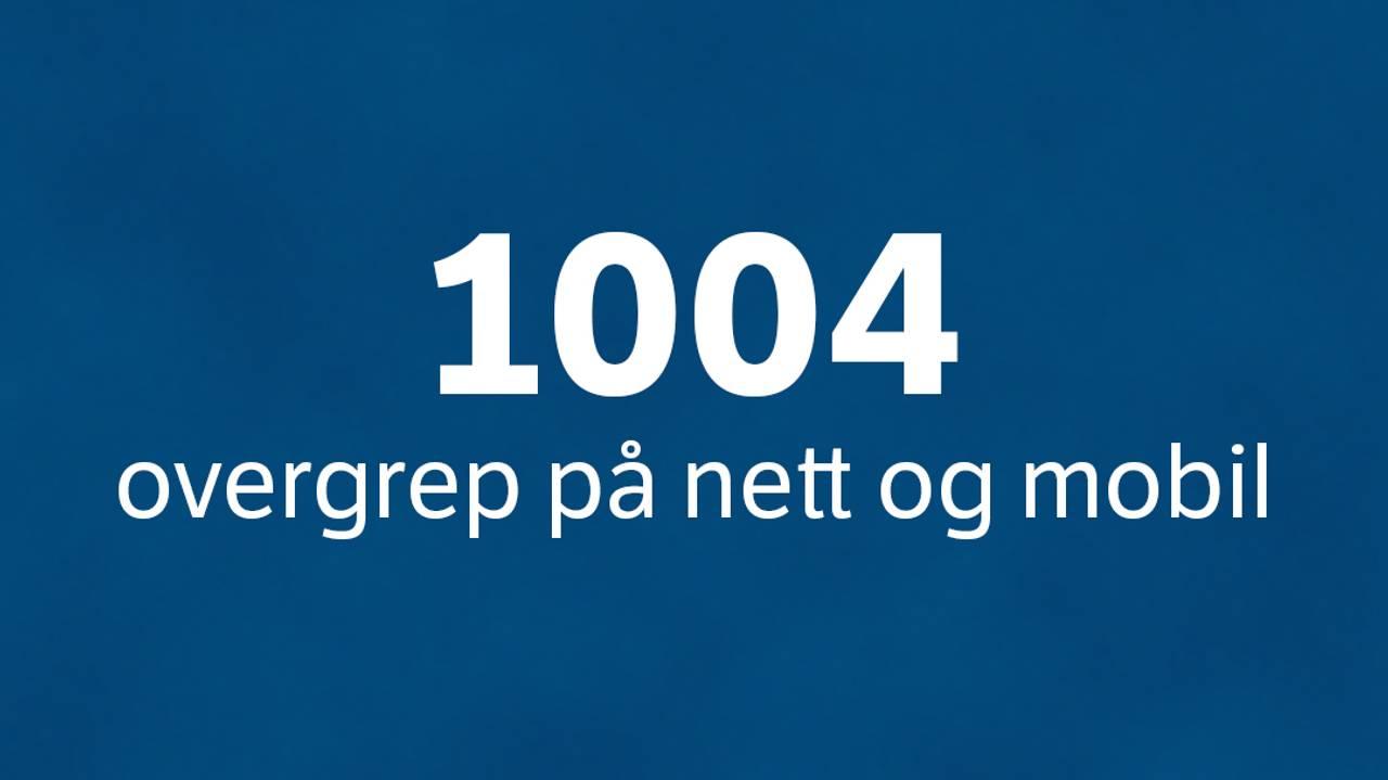 1004 overgrep på nett og mobil