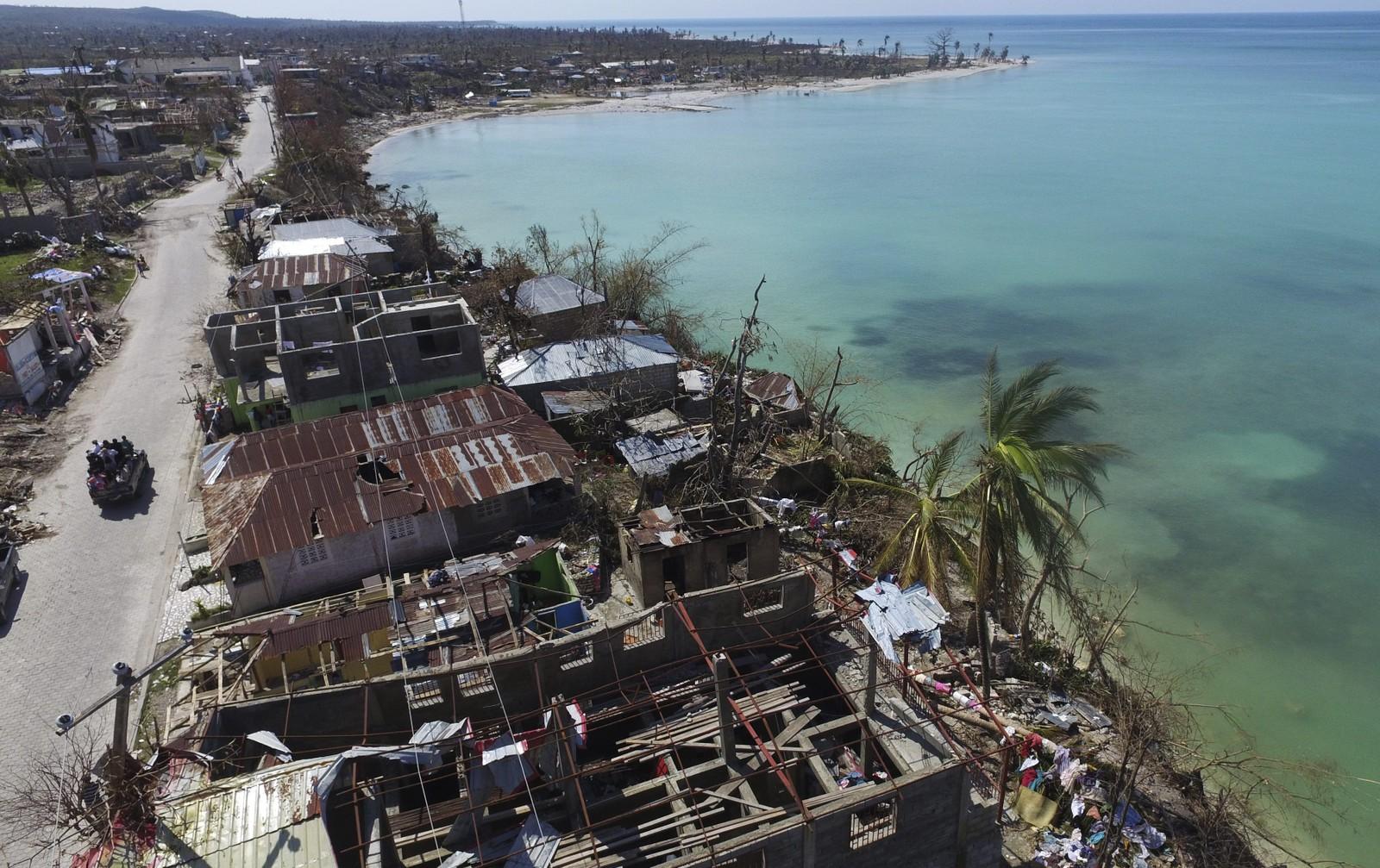 Oversiktsbilde over Port- Salut, sørvest for Port-au-Prince, på Haiti, søndag,