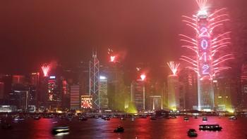 Hongkong nyttårsaften 2012