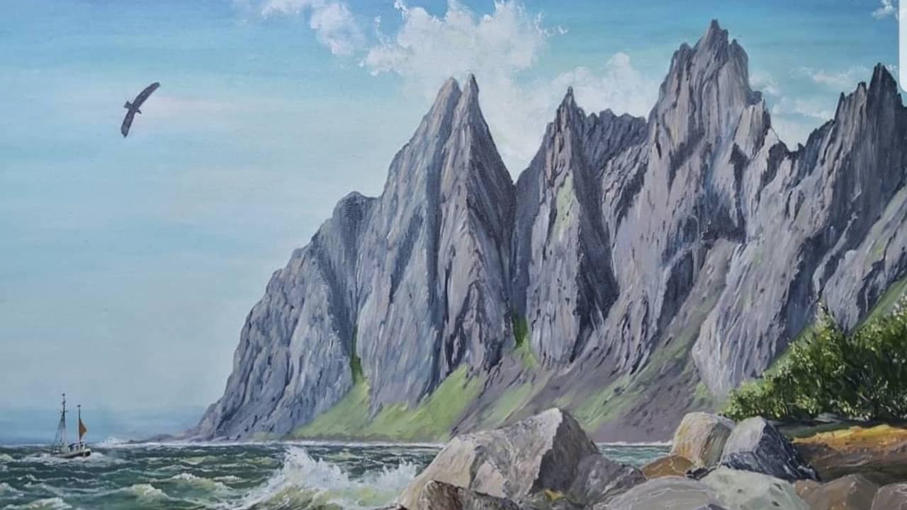 Else Pettersens maleri fra Senja