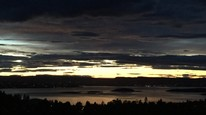 Høsthimmel over Oslofjorden. Foto: Mie Maria Sundberg