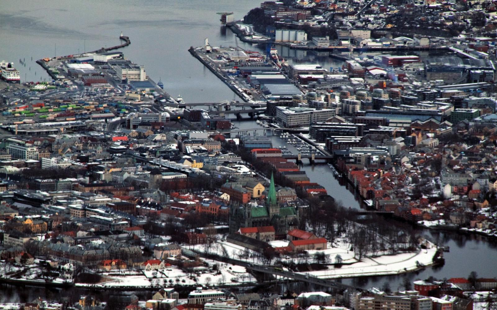 Trondheim sett fra lufta