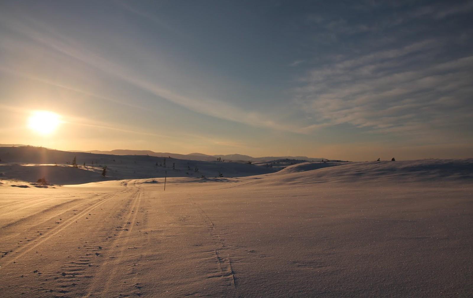 En fin januardag på Frolfjellet