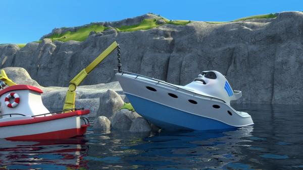Norsk animasjonsserie. Rockes redningsaksjon. Redningsskøyta Elias bor i Lunvik, og sammen med sine gode venner Helinor og Duppe redder de båter i alle mulige situasjoner.