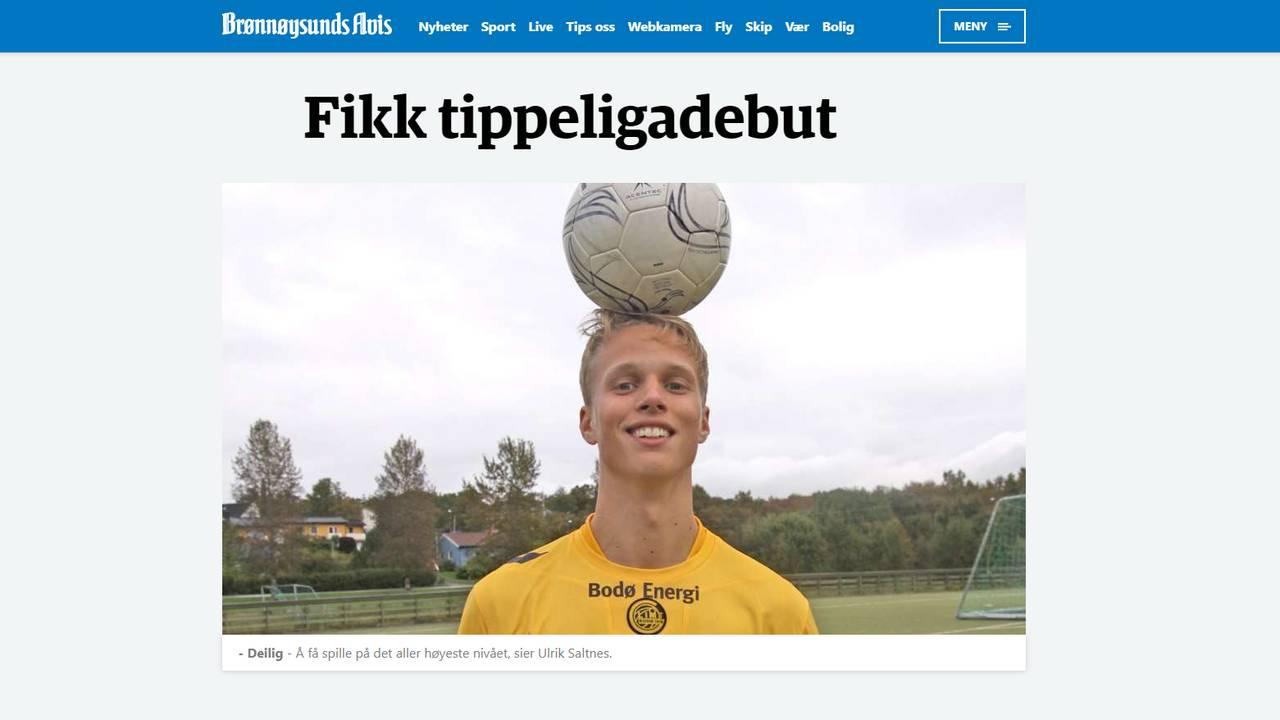 Fikk debut på øverste nivå i 2014 for Bodø/Glimt: - Å juble for seier foran 17.000 på tribunen i Bergen er min største fotballopplevelse så langt, sier brønnøyæringen.