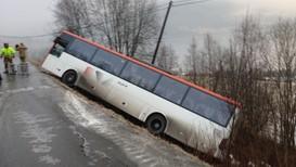 Bil av vegen i Melhus - Foto: Lars Erik Skjærseth/NRK