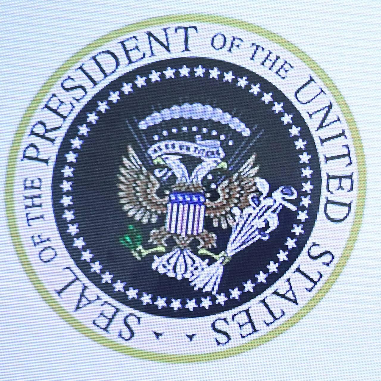 President Trump og et falsk presidentsegl