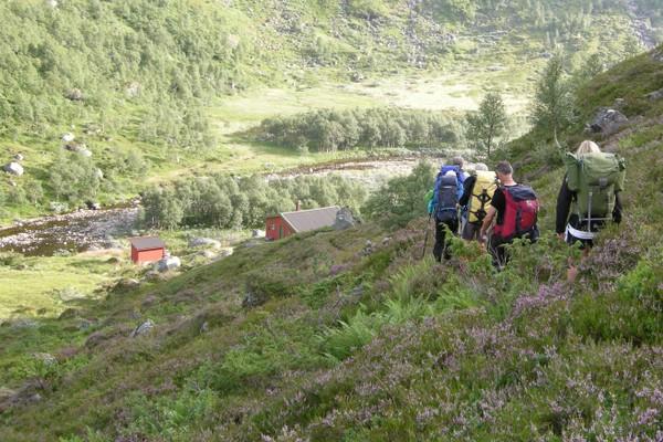 Ankomst Grasdalen -  Foto: Stavanger Turistforening