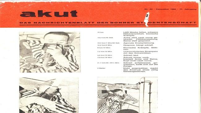 Student Newspaper Bonn 1965 divers