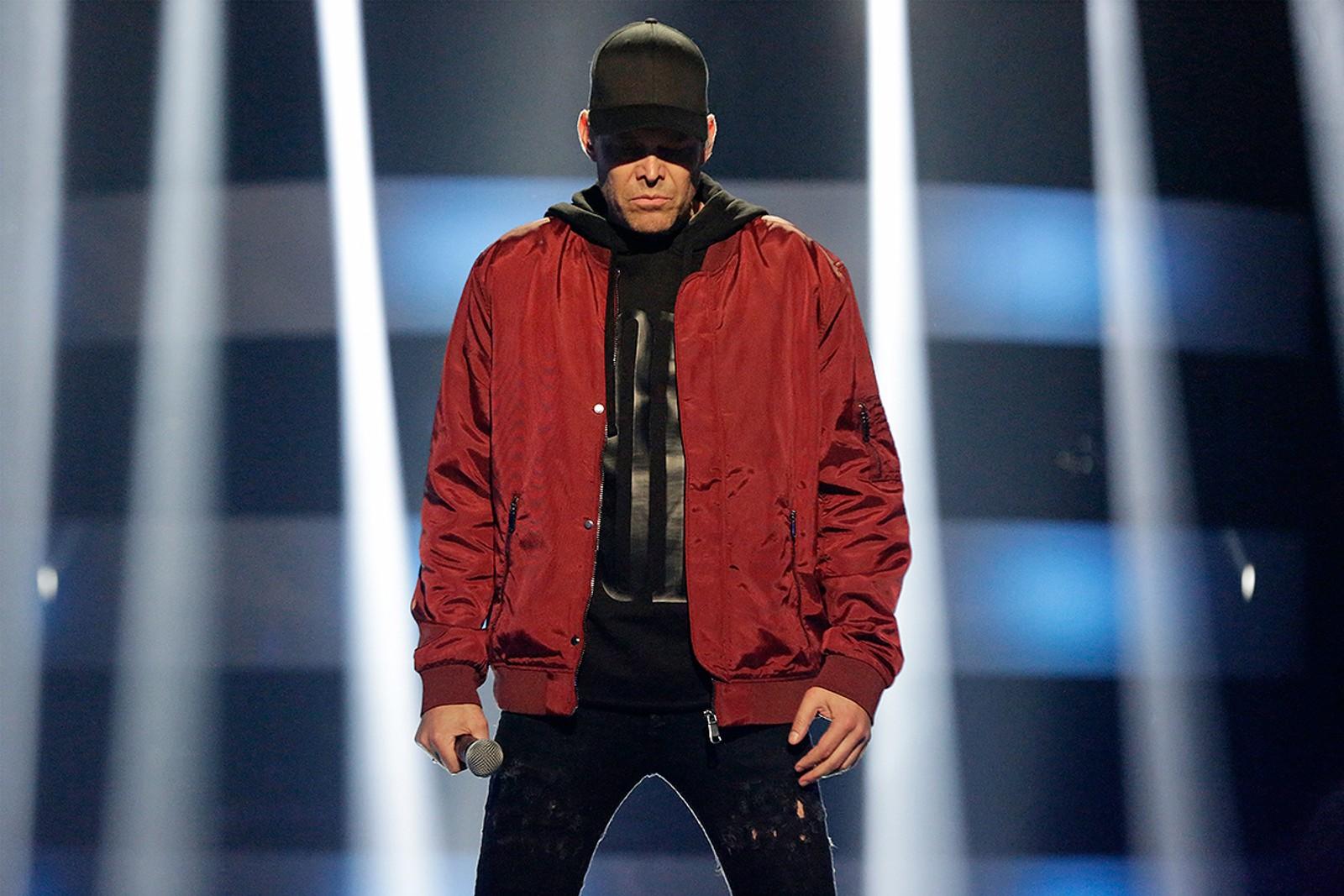 Håvard Bakke lot datteren bestemme hva han skulle rappe, og gikk for Eminem på hiphop-kvelden.