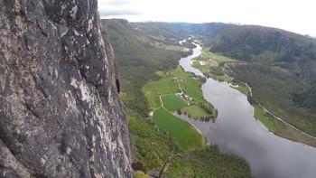 Utsikt fra Straumsfjellet i Valle