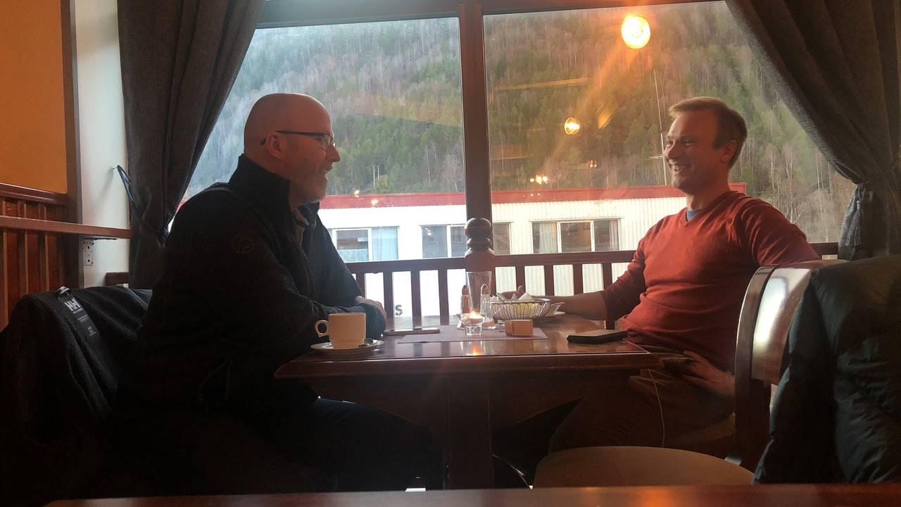 Bård Ludvig Thorheim på cafebesøk