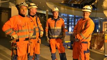 Jomar Strand, Bjørn Næve, Marius Leistad og Robert Barø