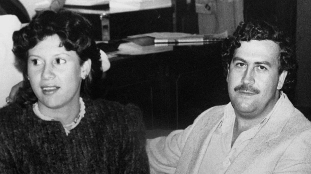 VICTORIA HENAO WITH PABLO ESCOBAR GAVIRIA IN FILE PICTURE